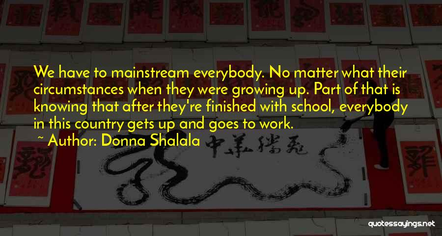 What Is Growing Up Quotes By Donna Shalala