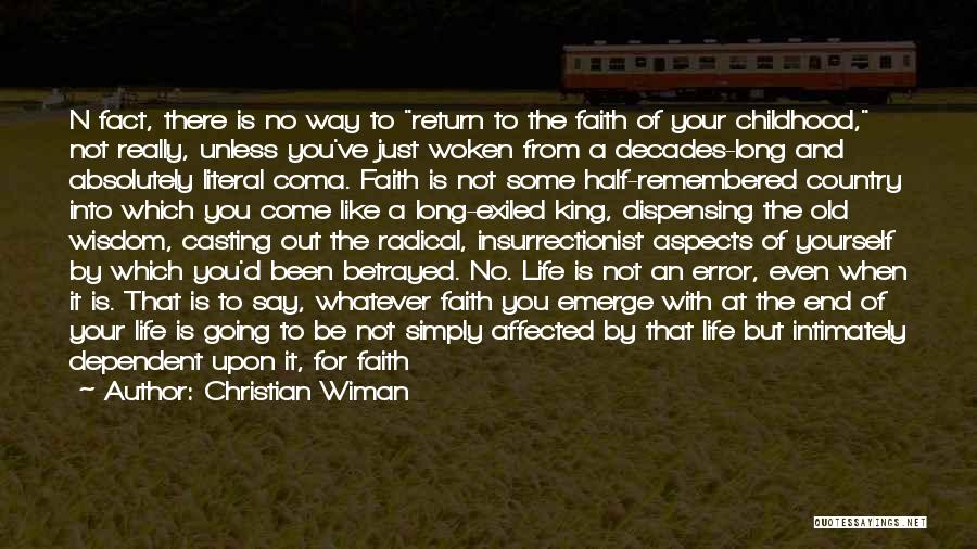 What It Means To Be A Christian Quotes By Christian Wiman