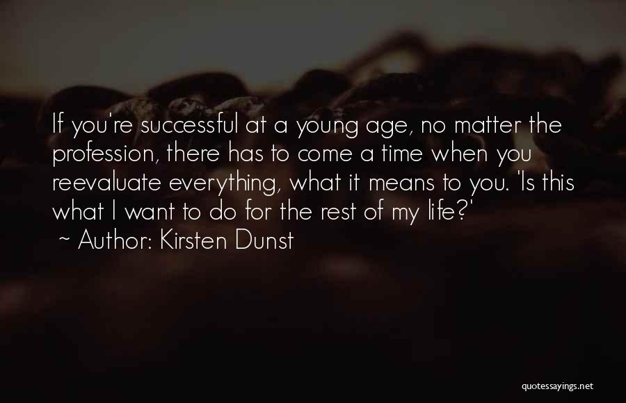What It Means To Be Successful Quotes By Kirsten Dunst