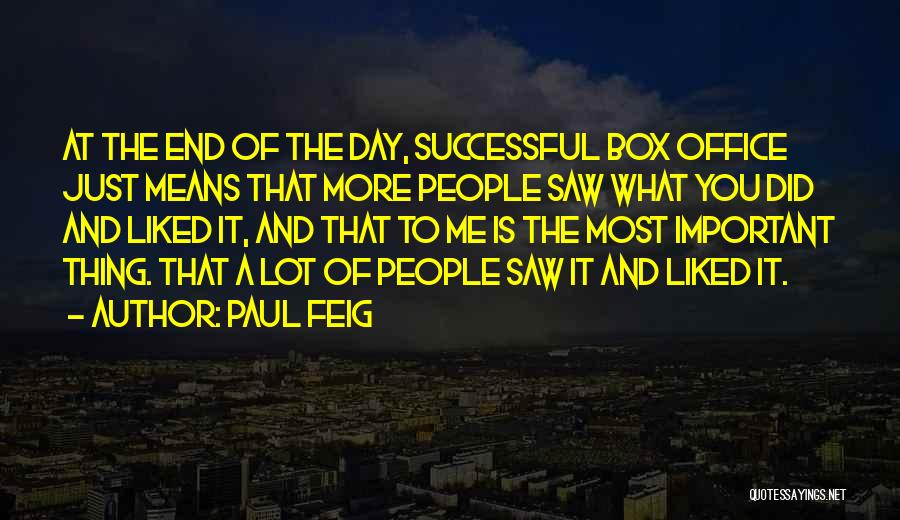 What It Means To Be Successful Quotes By Paul Feig