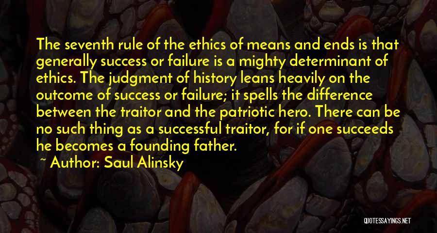 What It Means To Be Successful Quotes By Saul Alinsky