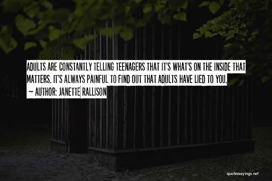 What Matters On The Inside Quotes By Janette Rallison