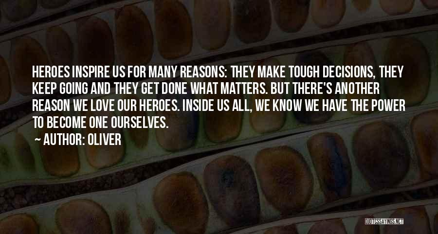 What Matters On The Inside Quotes By Oliver
