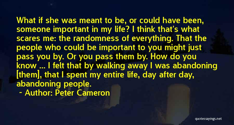 What Scares You Quotes By Peter Cameron