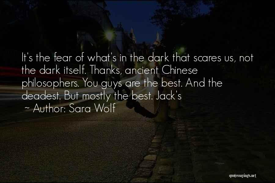 What Scares You Quotes By Sara Wolf
