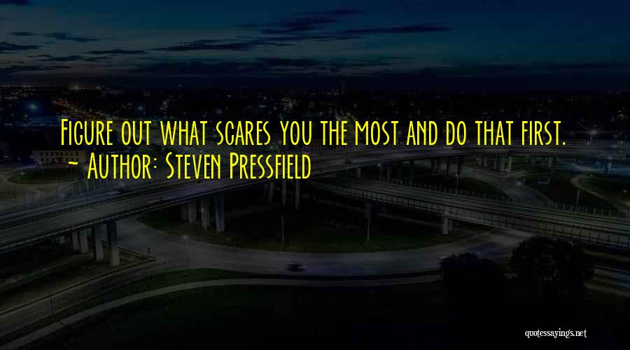 What Scares You Quotes By Steven Pressfield