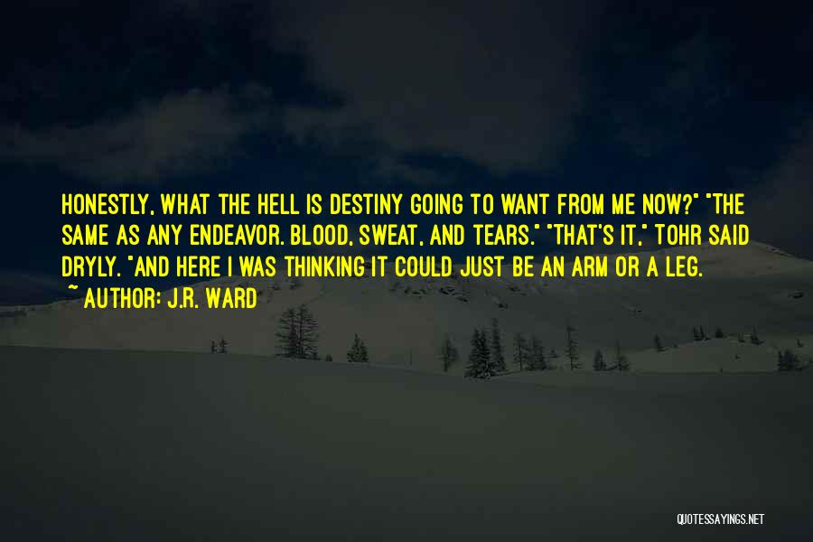 What The Hell Was I Thinking Quotes By J.R. Ward