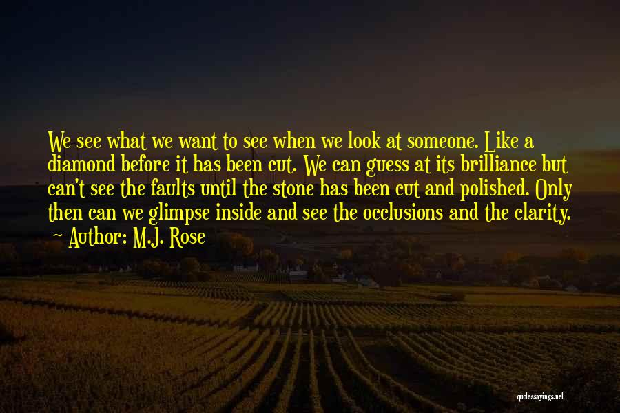 What We See Quotes By M.J. Rose