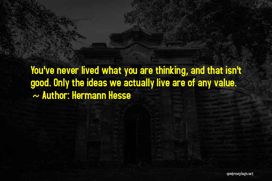 What We Value Quotes By Hermann Hesse