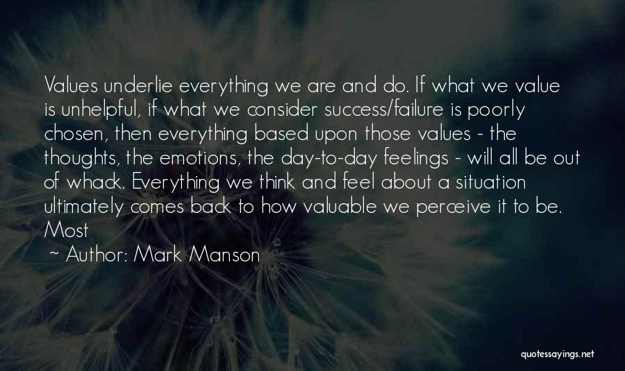 What We Value Quotes By Mark Manson