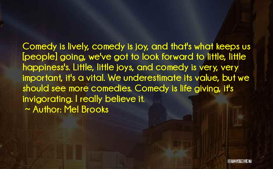 What We Value Quotes By Mel Brooks