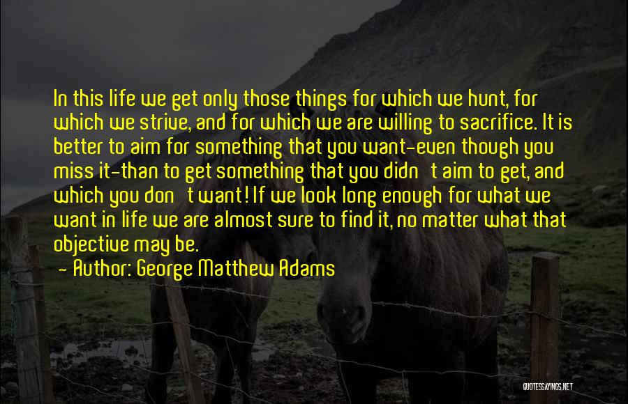 What You Are Missing Quotes By George Matthew Adams