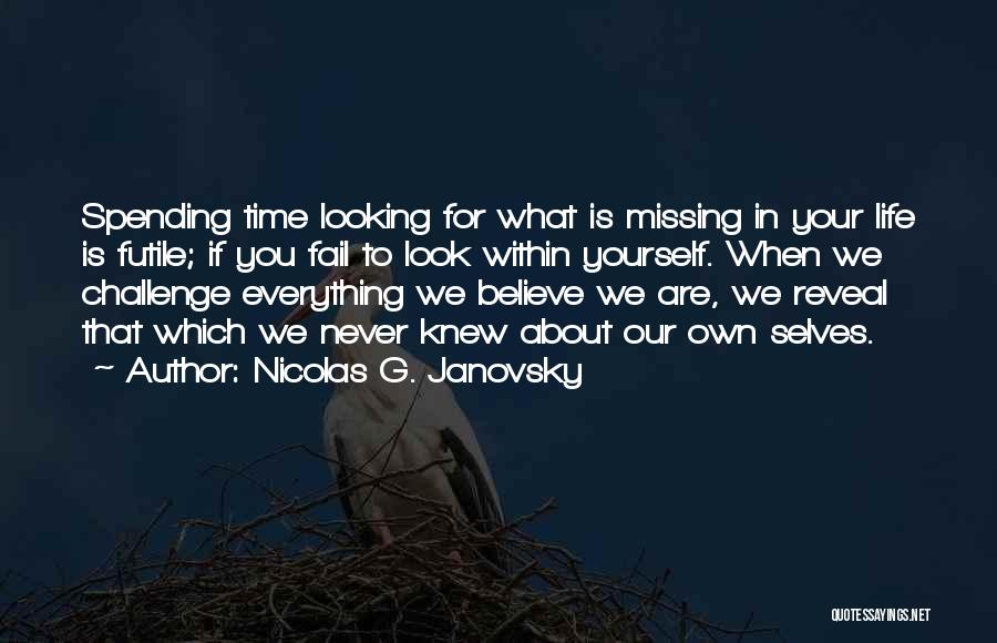 What You Are Missing Quotes By Nicolas G. Janovsky