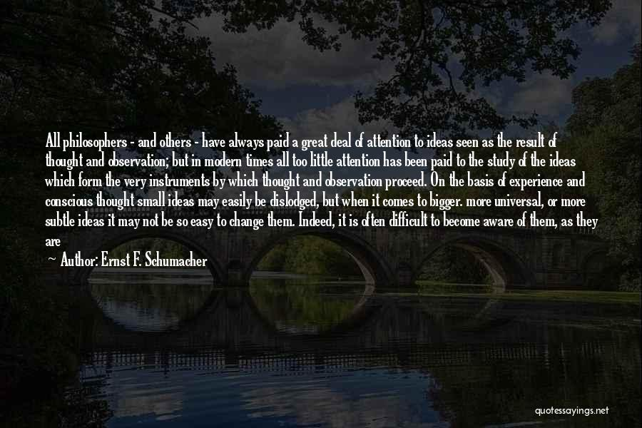 What You Cannot Change Quotes By Ernst F. Schumacher