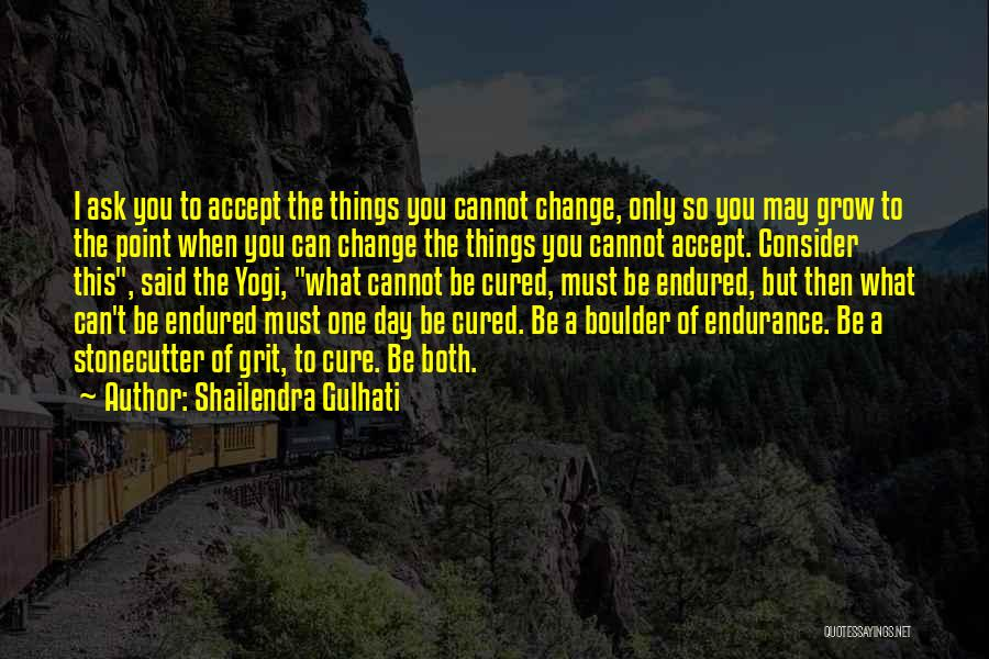 What You Cannot Change Quotes By Shailendra Gulhati