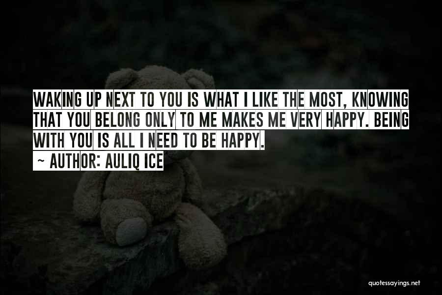 What You Need To Be Happy Quotes By Auliq Ice