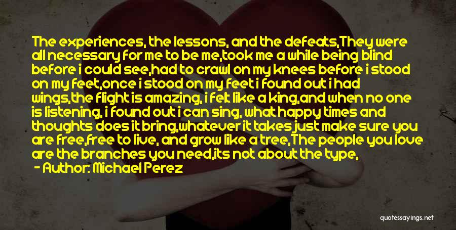 What You Need To Be Happy Quotes By Michael Perez