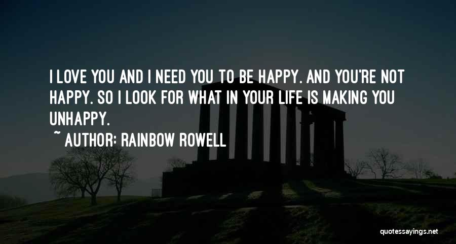 What You Need To Be Happy Quotes By Rainbow Rowell