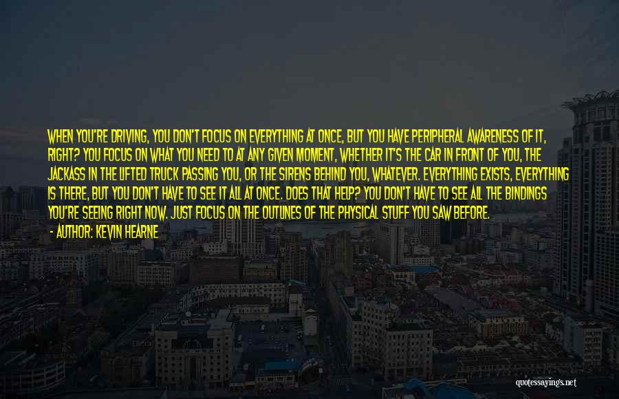 What's In Front Of You Quotes By Kevin Hearne
