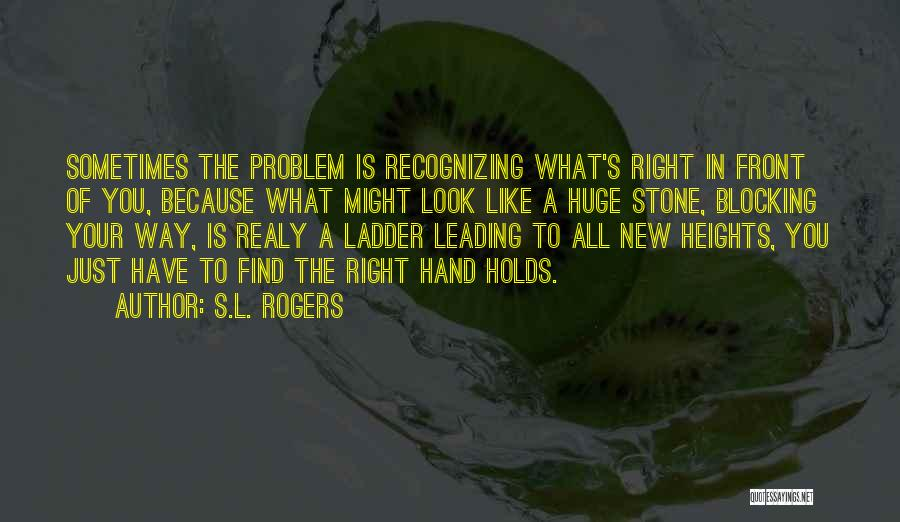 What's In Front Of You Quotes By S.L. Rogers