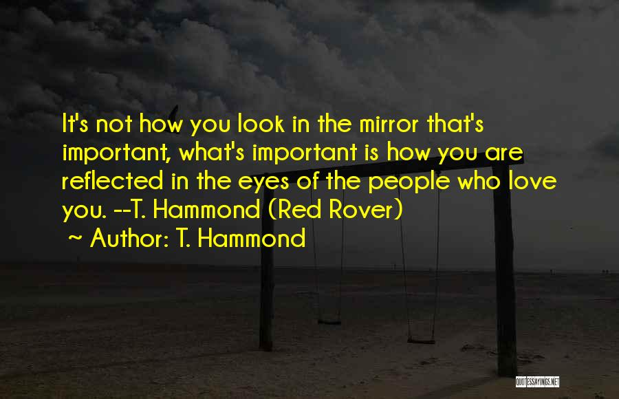 What's In Front Of You Quotes By T. Hammond