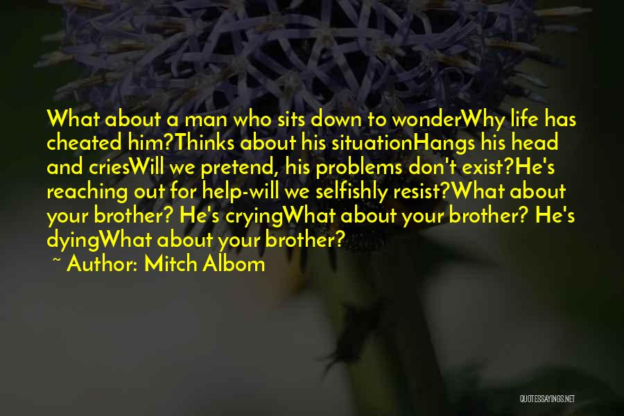 When A Man Cries Quotes By Mitch Albom