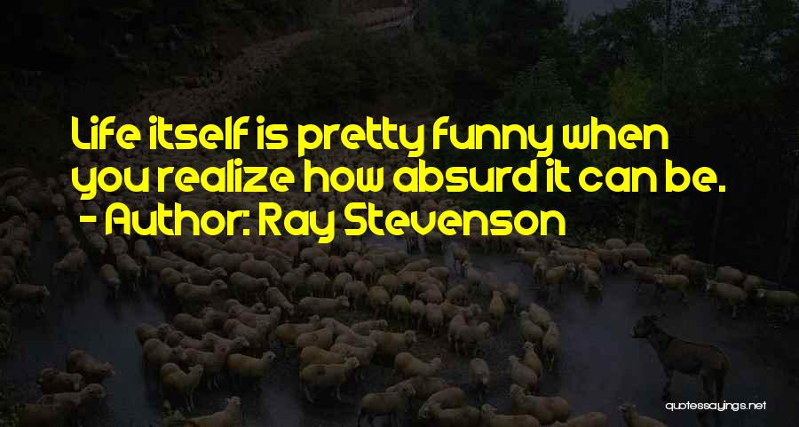 When Funny Quotes By Ray Stevenson
