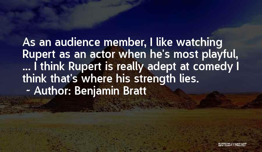 When He Lies Quotes By Benjamin Bratt