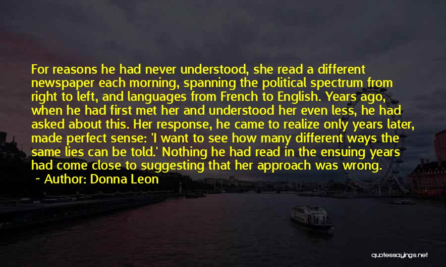 When He Lies Quotes By Donna Leon