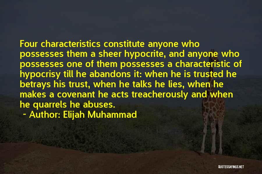 When He Lies Quotes By Elijah Muhammad