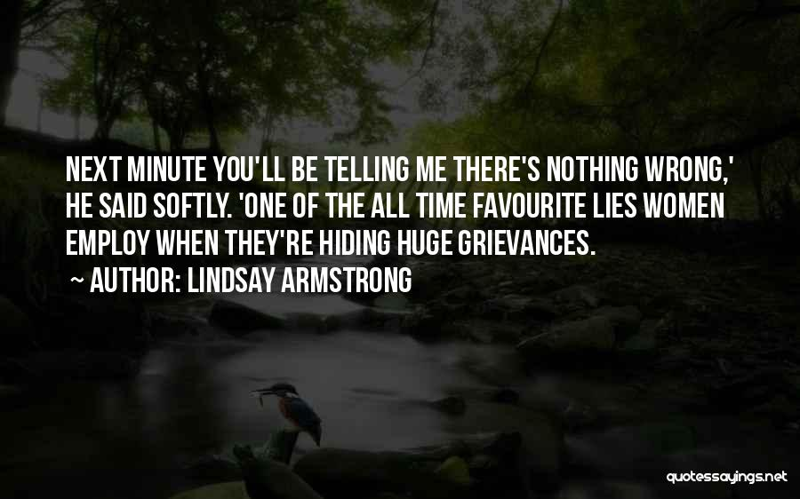 When He Lies Quotes By Lindsay Armstrong