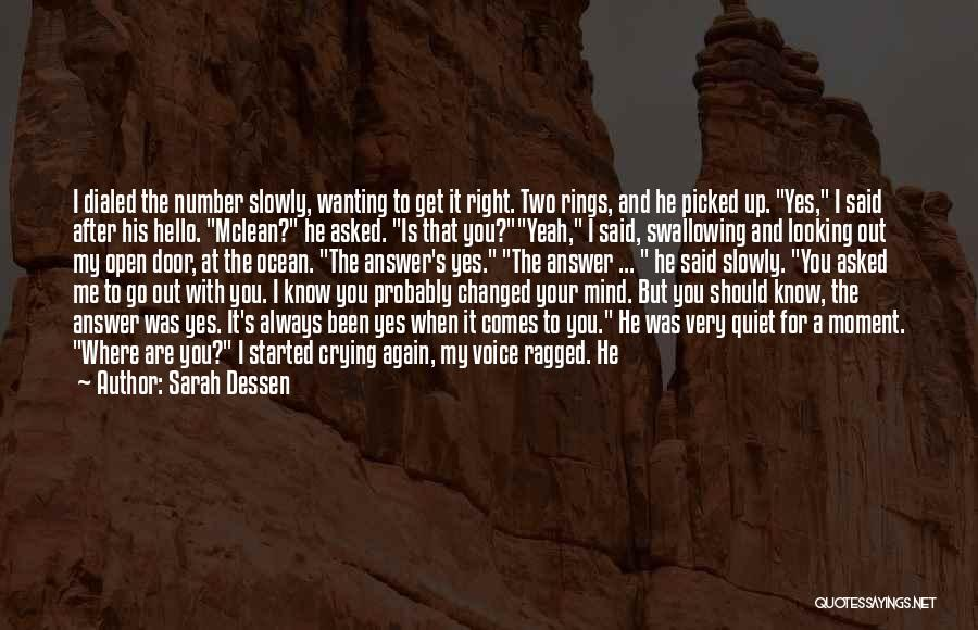 When He's Looking At You Quotes By Sarah Dessen