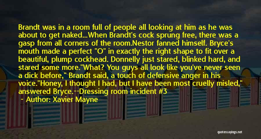 When He's Looking At You Quotes By Xavier Mayne