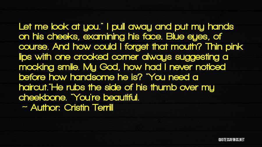 When I Look Into Your Blue Eyes Quotes By Cristin Terrill