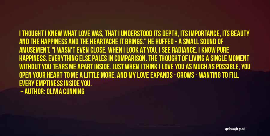When I Think Of You Love Quotes By Olivia Cunning