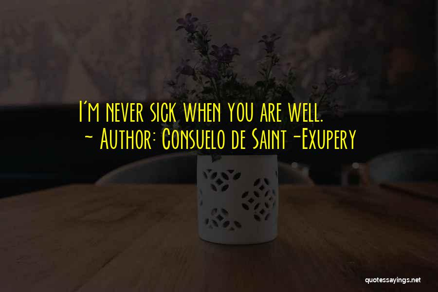When I'm Sick Quotes By Consuelo De Saint-Exupery