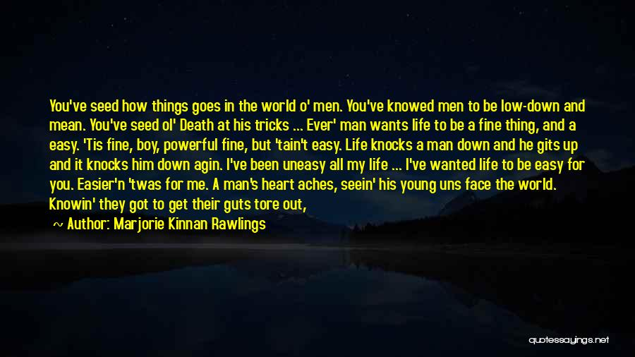 When Life Knocks U Down Quotes By Marjorie Kinnan Rawlings