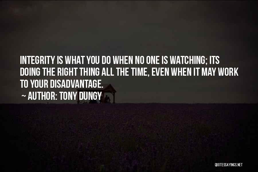 When The Time Is Right Quotes By Tony Dungy