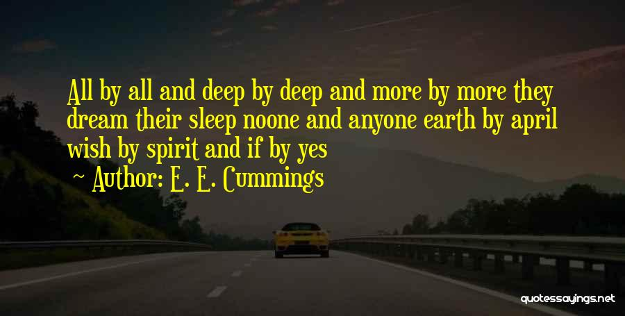 When U Cant Sleep Quotes By E. E. Cummings