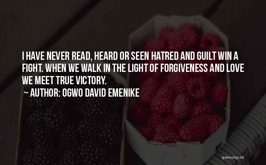 When We Fight Love Quotes By Ogwo David Emenike