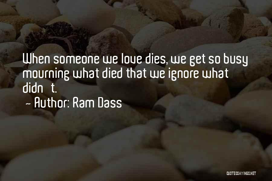 When We Love Someone Quotes By Ram Dass