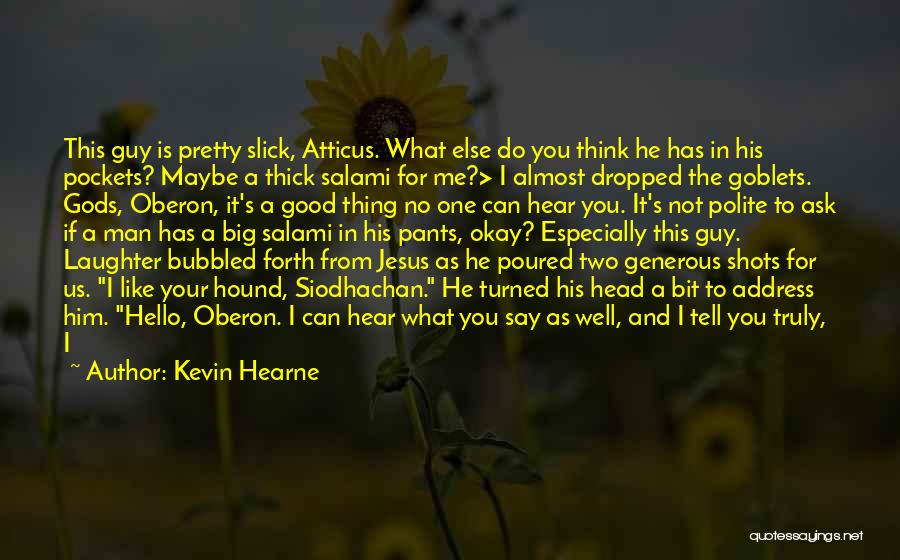 When You Like A Guy Quotes By Kevin Hearne