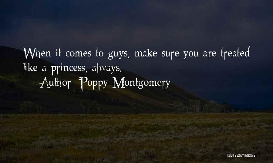 When You Like A Guy Quotes By Poppy Montgomery