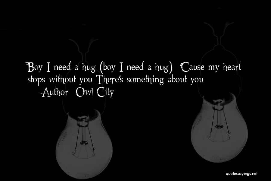 When You Need A Hug Quotes By Owl City