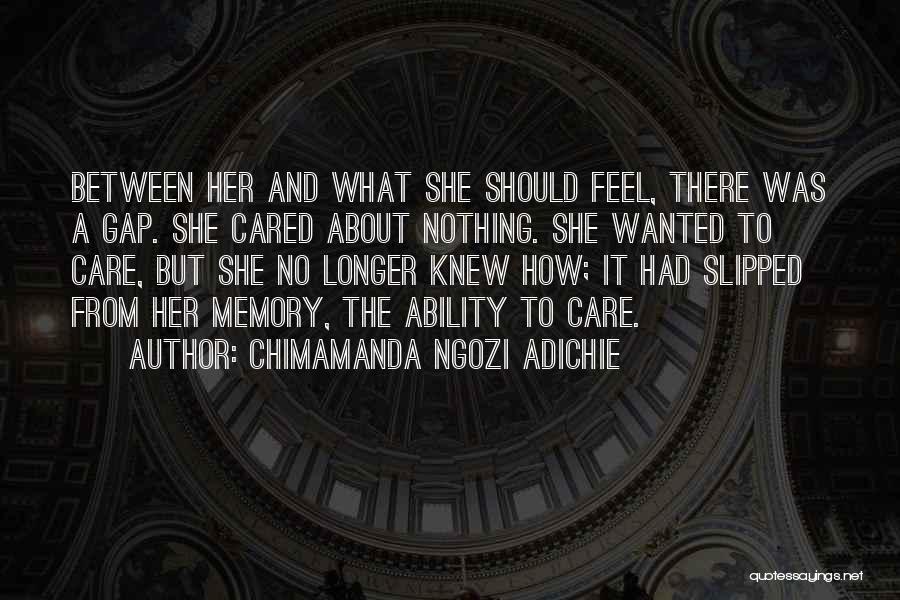 When You No Longer Care Quotes By Chimamanda Ngozi Adichie
