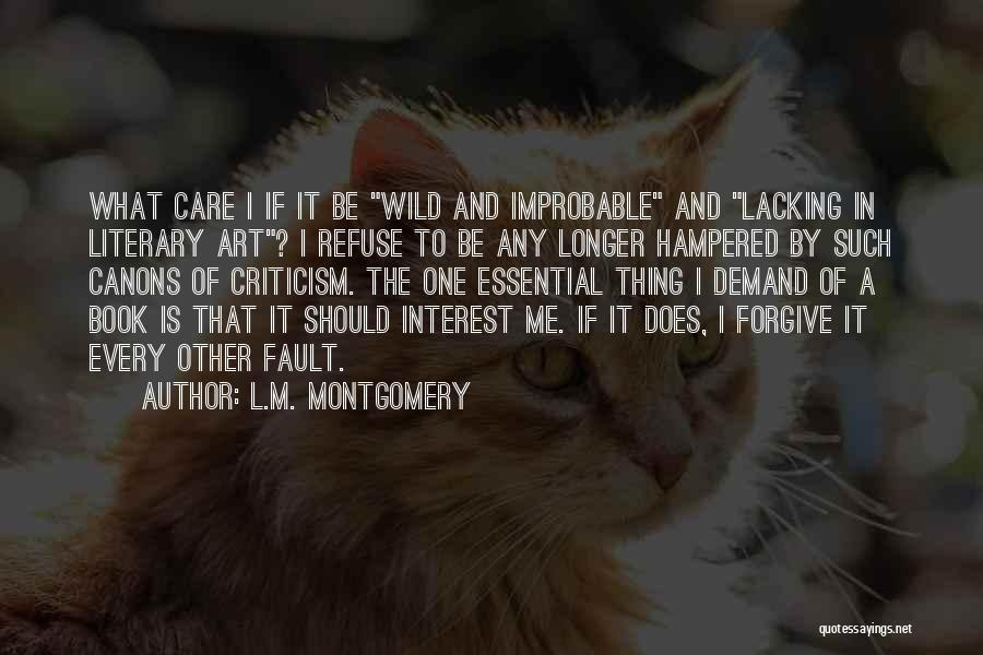 When You No Longer Care Quotes By L.M. Montgomery