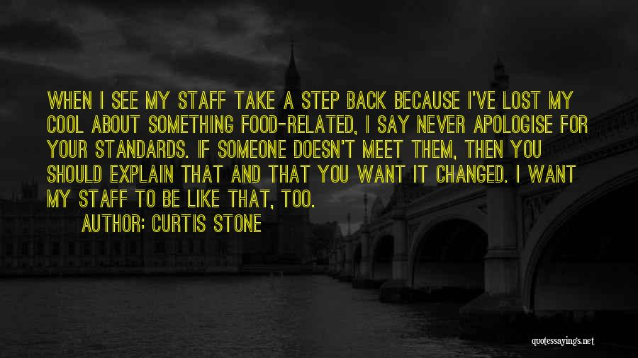 When You Take A Step Back Quotes By Curtis Stone