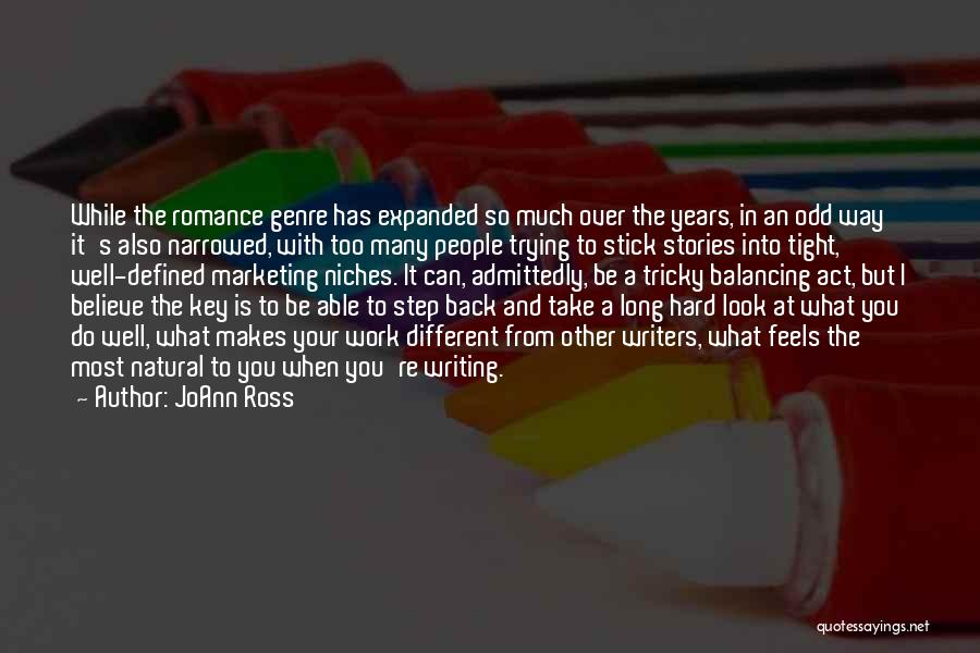 When You Take A Step Back Quotes By JoAnn Ross