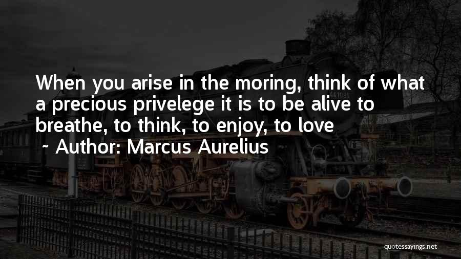 When You Think Positive Quotes By Marcus Aurelius