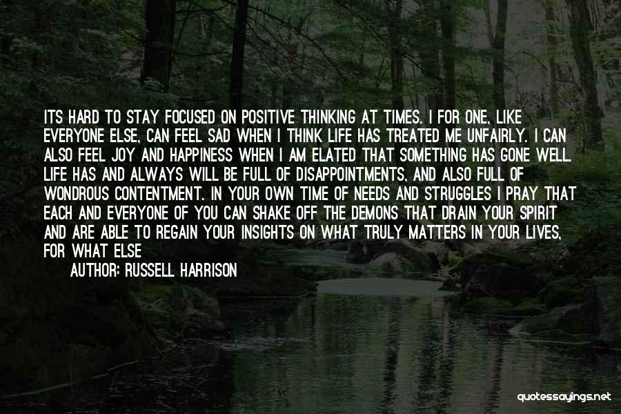 When You Think Positive Quotes By Russell Harrison